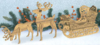 Fancy Sleigh and Reindeer Set Project Patterns