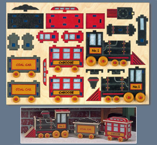 Choo Choo Train Puzzle Design Project Pattern