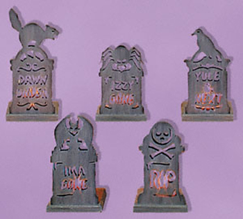 Tombstone Tea Lights Project Patterns