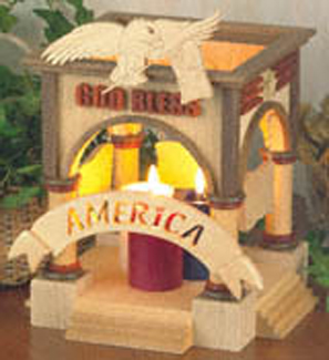 God Bless America Candle Holder Project Pattern