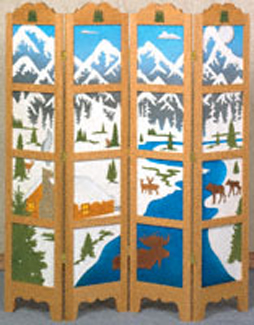 Northern Tranquility Room Divider Project Pattern