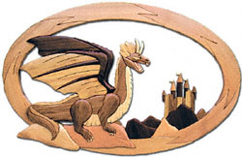 Dragons and Castle Intarsia Project Pattern