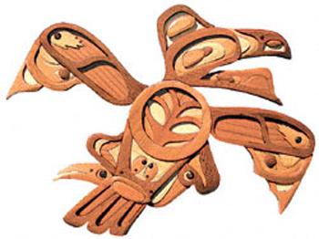 Native American Raven Intarsia Project Pattern