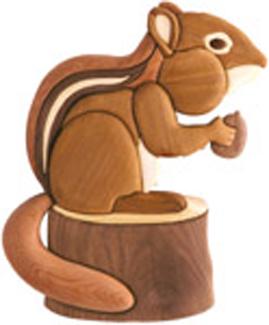 Chunky Chipmunk Intarsia Scroll Saw Pattern