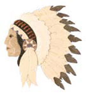 Indian Chief Intarsia Project Pattern