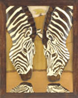 Rippled Image Zebras Intarsia Project Patterns