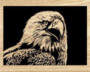 American Eagle Scrolled Art Project Pattern