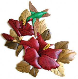 Hummingbird & Hibiscus Intarsia Project Patterns