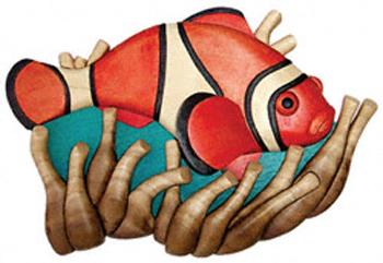 Clownfish Intarsia Project Pattern