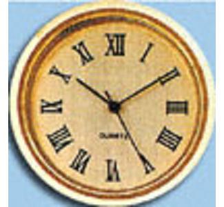 Quartz Mini Clock Gold/Gold