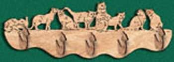 Cats Coat Rack Project Pattern