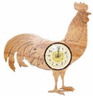 Rooster Wall Clock Project Pattern