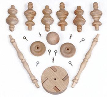 Wood Spinner Hardware Kit