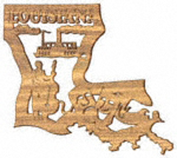 State/Province - Louisiana Plaque Project Pattern