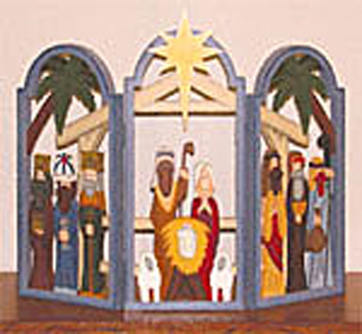 Three-Arch Nativity Woodcraft Pattern