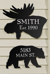 Bear & Moose House Plaques Woodcraft Pattern