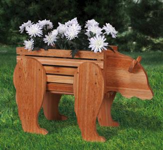 Bear Cedar Planter Woodcraft Pattern