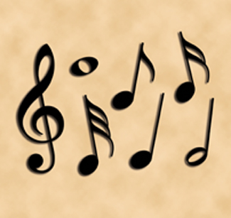 Giant Sized Musical Notes Woodcraft Pattern