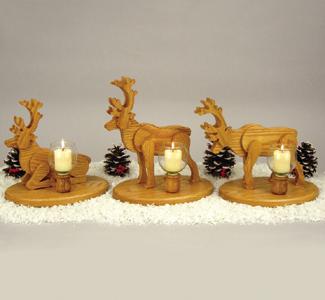Reindeer Candlesticks Woodcraft Pattern