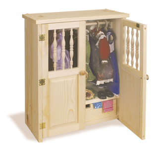 Doll Armoire Plans Woodcraft Pattern