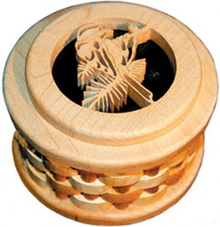 Chickadee Split Ring Box Project Pattern
