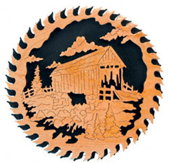 Covered Bridge Circular Saw Blade Project Pattern