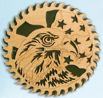 Circular Saw - Patriotic Eagle Project Pattern