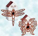 Dragonfly & Butterfly Birdhouse Set Project Pattern