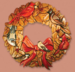 Birds on Holly Wreath Project Pattern