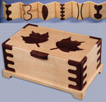 Maple Leaf Jewelry Box Project Pattern