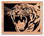 Tiger Roar Scrolled Art Project Pattern