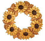 Sunflower Wreath Project Pattern