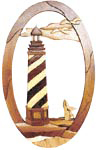 Spiral Lighthouse Oval Intarsia Project Pattern