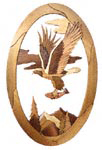 Eagle Domain Oval Intarsia Project Pattern