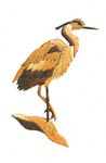Heron Intarsia Project Pattern