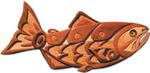 Native American Salmon Intarsia Project Pattern