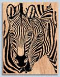 Siamese Zebras Scroll Saw Patters