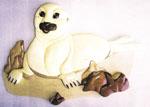 Harp Seal Baby Intarsia Project Pattern