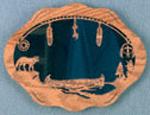 Indian Canoe Mirror Project Pattern
