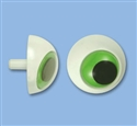 36mm Green 3D Plastic Eye