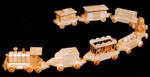 Wooden Train Set Woodcraft Pattern