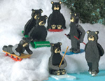Miniature Black Bear Collection Woodcraft Patterns