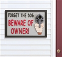 Beware of Owner! Sign Woodworking Project Pattern/Plan