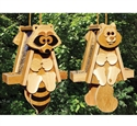 Raccoon & Squirrel Bird Feeder Woodcraft Patterns