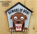 3D Beware of Dog! Sign Woodworking Project Pattern