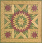 Painted Wooden Quilt Square #1 Woodcraft Pattern