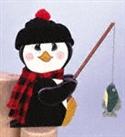 Fishin' Penguin Woodcraft Pattern