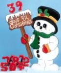 Countdown Frosty Woodcraft Pattern