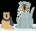 Caroling Dog & Cat Woodcraft Pattern