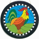 Painted Glass Rooster Project